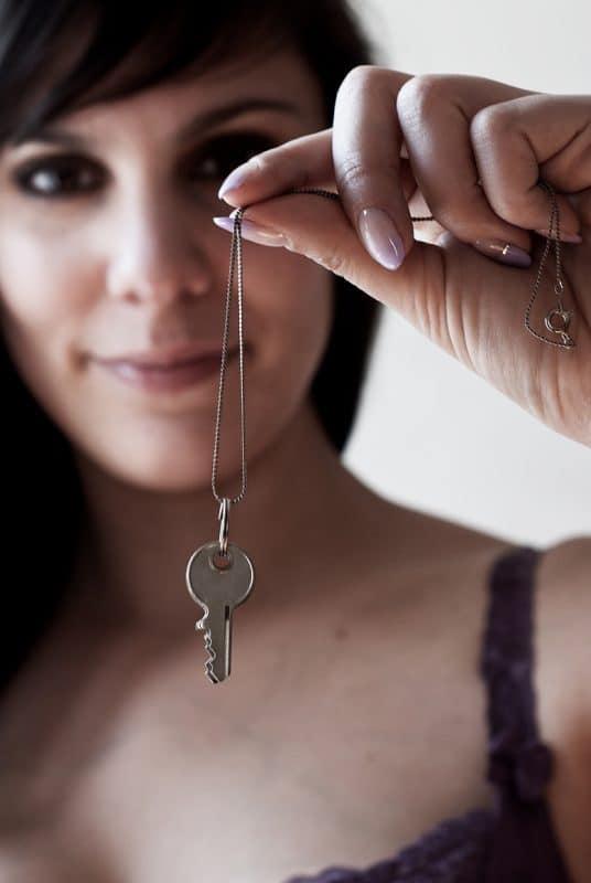 sissy chastity key holder