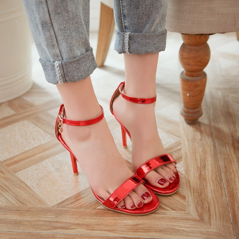 Long red toenails in jewel shoes - YouTube